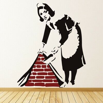 Keep It Spotless Maid Banksy Wall Decal Sticker WS-51327