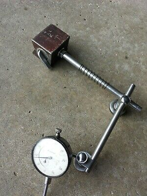 Mitutoyo vintage machinist dial indicator no. 2416 + magnetic stand