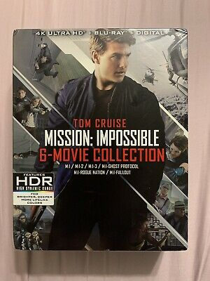 Mission: Impossible 6-Movie Collection Box Set (4K UHD/Blu-ray) **LIKE NEW**