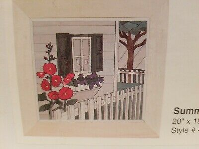 "Woodscapes of America Art Kit -Summer Flowers- #49 20"" x 19.5"" New In Sealed Box"