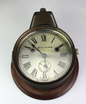 Antique Rare Seth Thomas Top / Bell Over Double Key Wind Ship Boat Yacht Clock