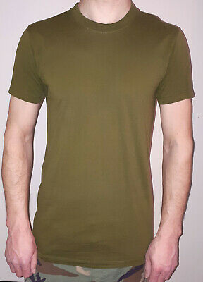 Canadian Forces Army Crew Neck Pullover T-Shirt Average Green NEW