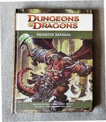 DUNGEONS & DRAGONS 4th ed / d20 Monster Manual HC - VG Cond - D&D