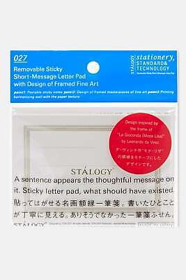 Stalogy Removable Sticky Short Message Letter D Unisexe Accessoire Book - Clear