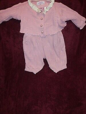 Plum Pudding Ltd Vintage 2 Piece Adorable Baby Toddler Girls Outfit Sz 18 Months