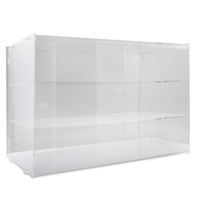 Acrylic Display Cabinet Unassembled L56.5xW32xH40CM Clear Bakery Collectibles