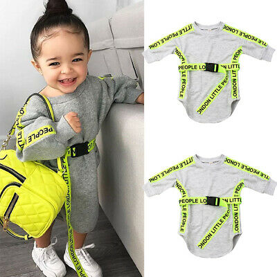 Toddler Kids Baby Girls Clothes Long Sleeves Sport Dress Blouse Pullover Dresses