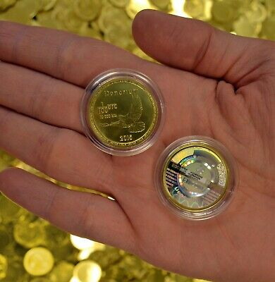 Denarium Physical Coin, non-tampered hologram,Beautiful coin