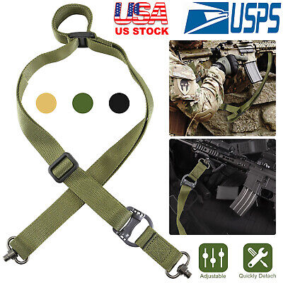 "2 Point Rifle Sling Retro Tactical Quick Detach QD Multi Mission1.2""-width Nylon"