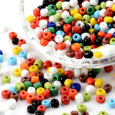 4500pc Colourful Glass Seed Beads Opaque Tiny Round Wholesale Loose Bead 4mm DIA
