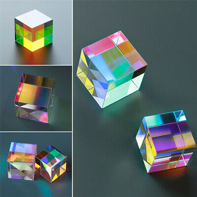 Multicolor Optical Glass X-cube Dichroic Cube Prism RGB Combiner Splitter Toy