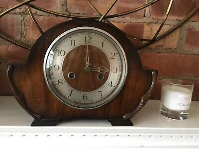 VINTAGE SMITHS ENFIELD MANTLE CHIMING CLOCK With Key