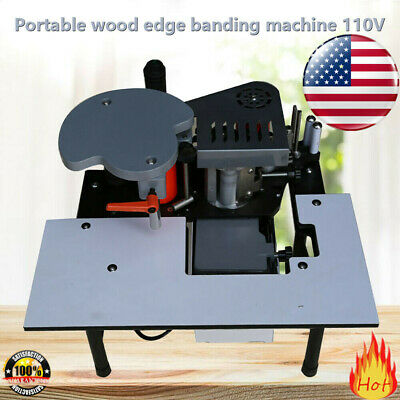 Woodworking Portable Edge Banding Machine Thick Bevel 10-60mm Width 0.3-3mm