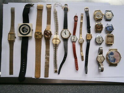 Job lot of vintage ladies watches mechanical watches working
