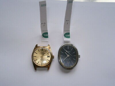 Job lot vintage gents watches automatic watches working spares or repair swiss