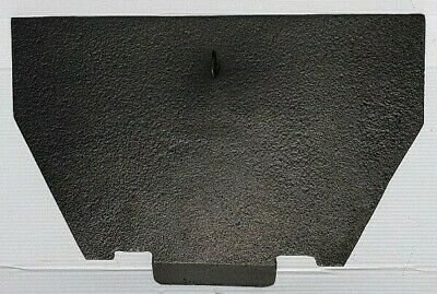 Original Antique Victorian Cast Iron Fireplace Spare Parts: Rear Draw Plate