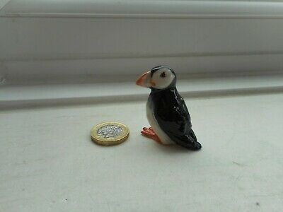 Puffin  - Pottery- Beautiful Unusual Miniature Detailed Puffin Bird