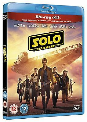 Solo: A Star Wars Story - Blu Ray 3D [2018] Rated 12 *UK Seller & Free Post*