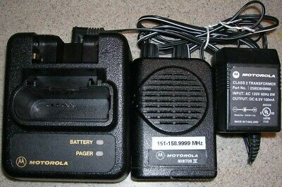 Motorola Minitor IV 2-Channel VHF Pager 151 - 158.9999 MHz  Non Stored Voice