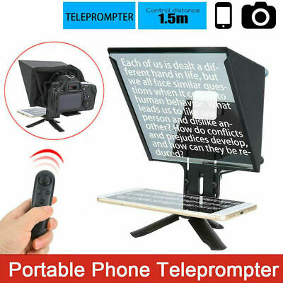 YS-ZX5 Mini Teleprompter Bluetooth Handle 1.5m for Interview Mobile Phone Camera