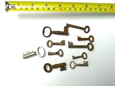 10 x Old Antique Vintage Keys Collector, Small, uncleaned Steampunk #0312
