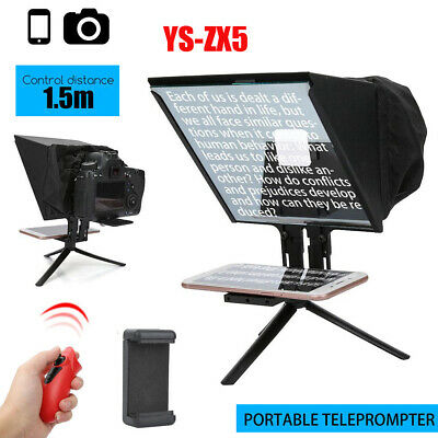 YS-ZX5 Portable Smartphone Teleprompter for DSLR Camera Wireless Handle Control