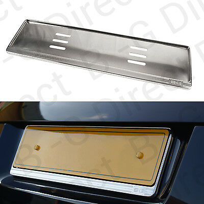 Stainless steel number registration license plate surround holder UK EU Chrome