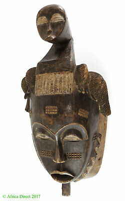 Yaure Mask with Face on Top Ivory Coast African Art SALE WAS $295.00