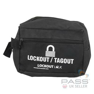 Lockout Tagout Small Heavy Duty Nylon Pouch - 195mm x 140mm x 90mm
