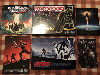 RARE Marvel Avengers 10 Years Special Edition Monopoly Board Game Endgame Poster