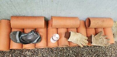 23 Vintage Clay Sewer Tiles Antique Water Pipe Segments Landscaping Collectable