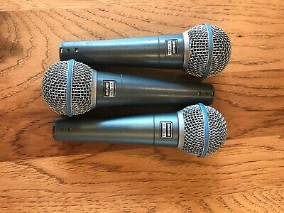 Shure Beta 58a Supercardioid Dynamic Microphone With High Output (3 Pack)