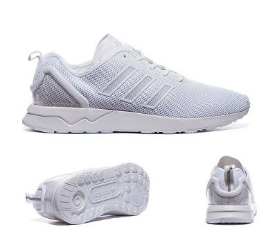Mens Adidas ZX Flux Racer White Trainers (PF27) RRP £74.99