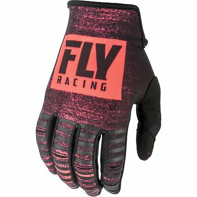 Fly Racing Kinetic Noiz Mens Gloves Mx Glove - Neon Red Black All Sizes