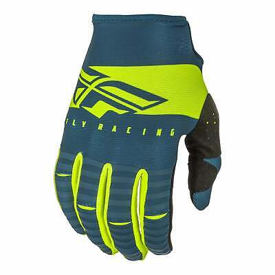 Fly Racing Kinetic Shield Mens Gloves Mx Glove - Navy Hi-vis All Sizes