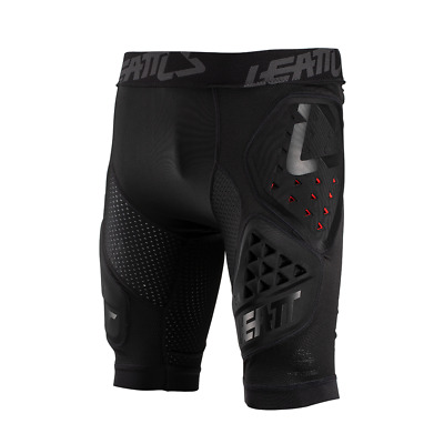 Leatt 3df 3.0 Mx Motocross And Enduro Impact Mens Body Armour Shorts - Black