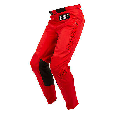 Fasthouse Grindhouse Mens Pants Moto - Solid Red All Sizes