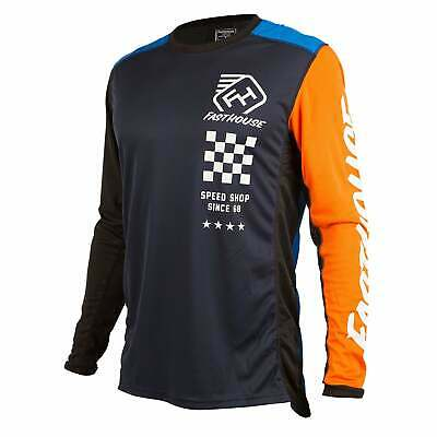 Fasthouse Icon L1 Mens Jersey Moto - Blue/orange All Sizes