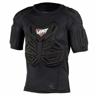 Leatt Mx And Enduro Roost Tee Mens Body Armour Torso - Black All Sizes