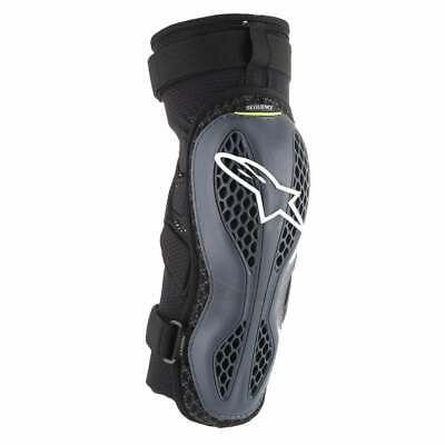 Alpinestars Sequence Mens Body Armour Knee Pads - Anthracite Yellow Fluo