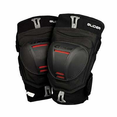 Evs Protection Adult Glider Guards Pair Mens Body Armour Knee Pads - Black Red