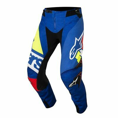 Alpinestars Techstar Factory Mens Pants Moto - Blue, Red, White And Yellow Fluo