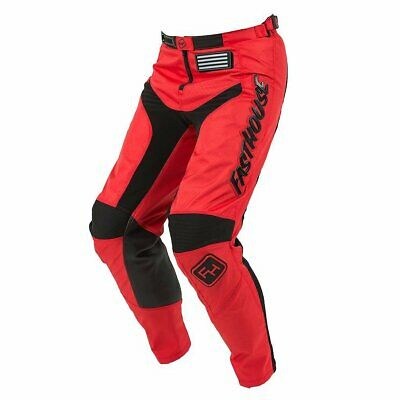 Fasthouse Grindhouse Mens Pants Moto - Red All Sizes