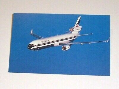 Delta Airlines MD-11 Post Card