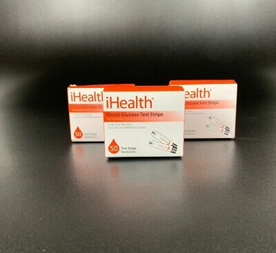 iHealth Blood Glucose Test Strips, 3 Pack, 150 Strips Total, EXP 3/29/19!