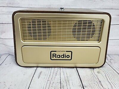One Button Radio Large Analog Retro Style Easy to Operate Memory Loss Dementia