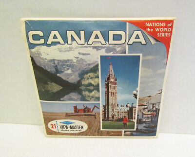 View-Master Packet A 090 Canada Land Of Contrasts Vintage Viewmaster 3 Reel Set
