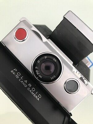 Polaroid Sx 70 Land Camera Black/Crome in Excellent Condition Fully Tested!!Rare