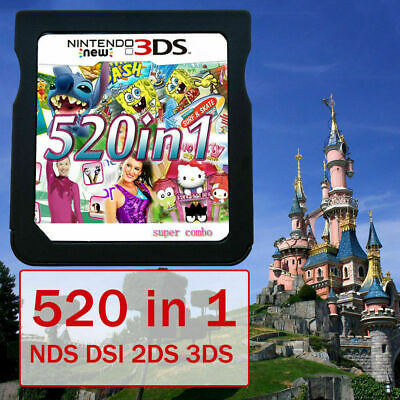 520 in 1 Video Games Card Cartridge For Nintendo NDS NDSL 2DS 3DS NDSI US H8B7X