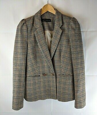 37938e460 ZARA WOOL GREY Beige & Cream Jacket Brand New Without Tags Sold Out ...